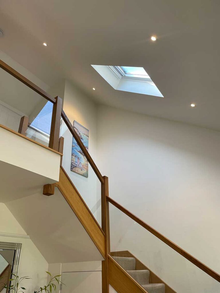 Electrical installation for domestic extension - hallway