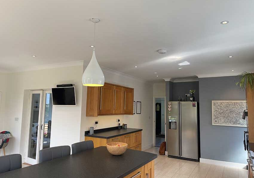 Electrical installation for domestic extension - kitchen